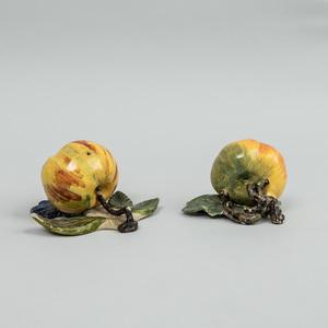 Two Dutch Delft Models of Apples