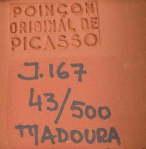 Pablo Picasso (1881-1973): Carré au visage