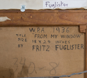 Fritz Fuglister (1909-1987): From My Window