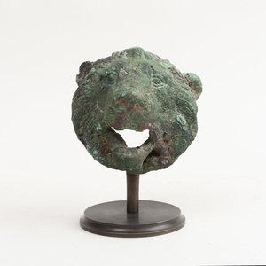 Late Hellenistic-Early Roman Bronze Lion Mask