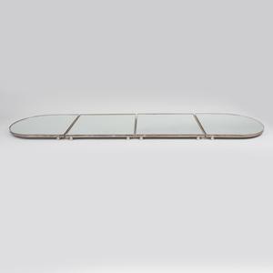 Large Silver Plate Mirror Surtout de Table