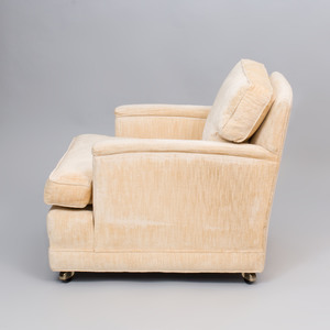 John C. Stuart Velvet Upholstered Club Chair