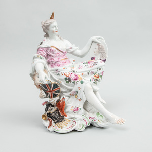 Chelsea Derby Porcelain Allegorical Group of Britannia