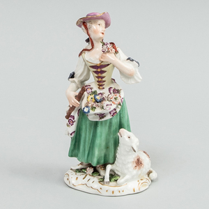 Meissen Porcelain Figure of a Shepherdess