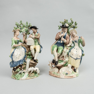 Two Wood Family Pearlware Groups
