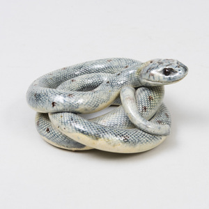 Palissy Style Porcelain Model of a Coiled Snake
