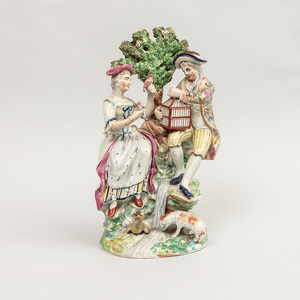 Staffordshire Pearlware Group 'Matrimony', in the Manner of Enoch Wood
