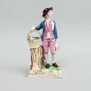 Saint Clement Faience Figure of a Goatherd, after a Model by Cyffle