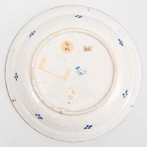 Pair of Dutch Polychrome Delft Soup Plates