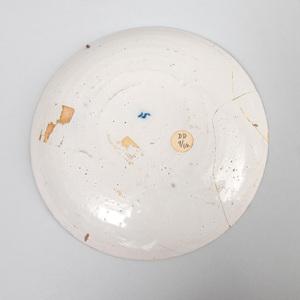 Pair of Dutch Polychrome Delft Pancake Plates