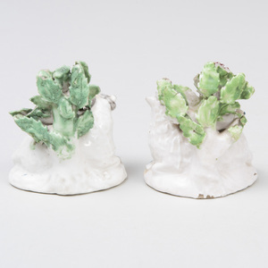 Pair of Derby Porcelain Bocage Models of a Ram and Ewe