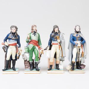 Four Porcelain Figures of French Generals