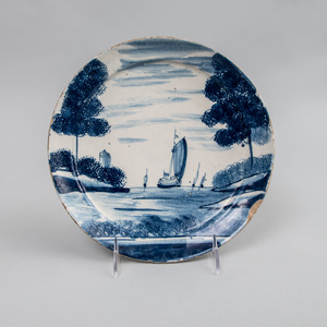 Dutch Blue and White Delft Pancake Plate