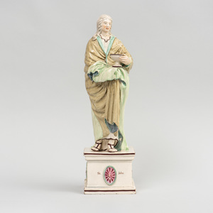 Staffordshire Pearlware Figure of St. John