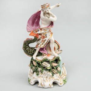 Chelsea Porcelain Figure of Neptune
