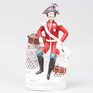 Staffordshire Pottery 'Emperor Napoleon' Flatback Figure