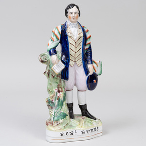 Staffordshire Pottery 'Robert Burns' Flatback Figure