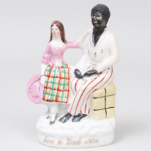 Staffordshire Pottery 'Eva and Uncle Tom' Figure Group