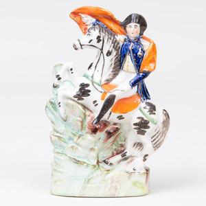 Staffordshire Pottery 'Napoleon' Flatback Figure