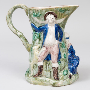 Staffordshire Pottery 'Fair Hebe' Jug, After Model by John Voysez