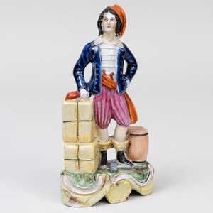 Staffordshire Pottery Figure of a Docksman