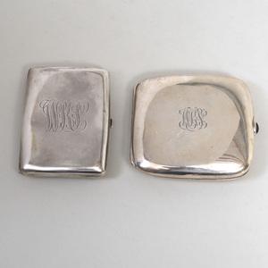Two American Silver Cigarette Cases