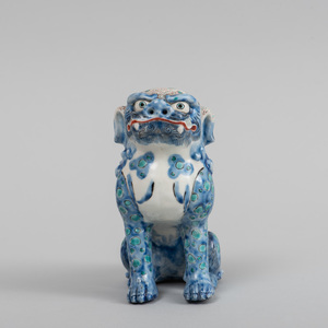 Japanese Porcelain Model of a Buddhistic Lion