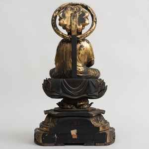 Japanese Carved Giltwood Buddha