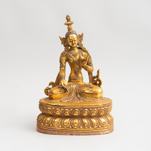 Tibetan Gilt-Bronze Figure of Tara