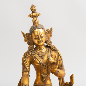 Tibetan Gilt-Bronze Figure of Tara