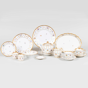 Royal Copenhagen Porcelain Part Service in the 'Henriette' Pattern