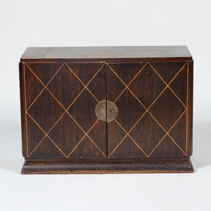 Stained and Fruitwood Inlaid Art Deco Cabinet