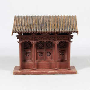 Chinese Red Painted House Shrine