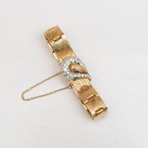 Pastor 14k Gold and Diamond Bracelet Watch
