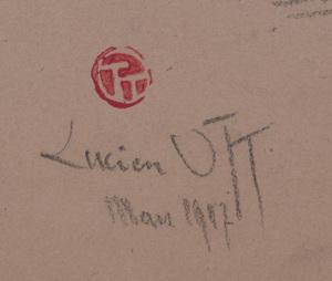 Lucien Ott (1870 - 1927): Man in Hat