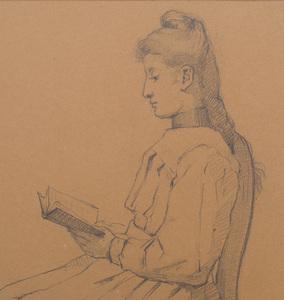 French School: Girl Reading