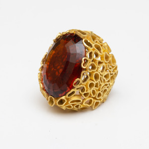 Andrew Grima 18k Gold and Madiera Citrine Ring