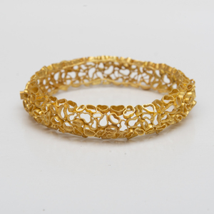 18k Gold Bracelet, in the Style of Andrew Grima