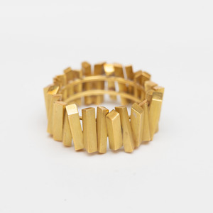 18k Gold Band Ring, in the Style of Andrew Grima