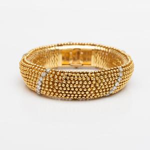 Gubelin 18k Gold and Diamond 'Couscous' Bracelet Watch