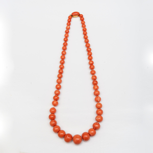 Large Coral Bead Necklace