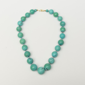 Turquoise Matrix Bead Necklace