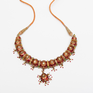 Indian Jaipur Enamel Necklace