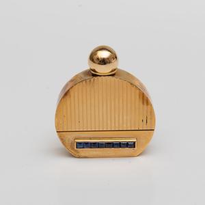 Retro 14k Gold and Sapphire Perfume Vial