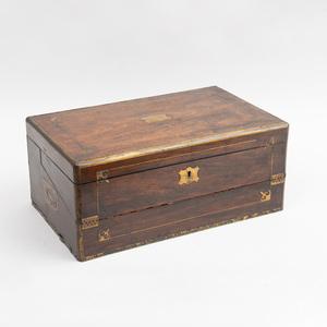 Regency Brass Inlaid Rosewood Travel Desk