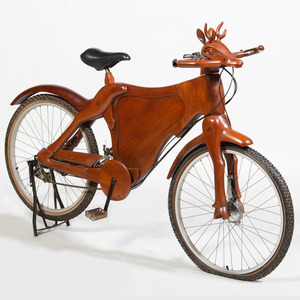 Indonesian Carved Teak Bicycle