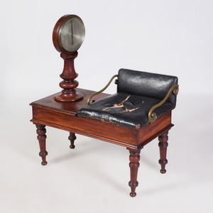 Victorian Mahogany Jockey's Weight Bench