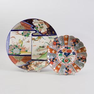 Japanese Imari Porcelain Charger and an Arita Imari Porcelain Plate