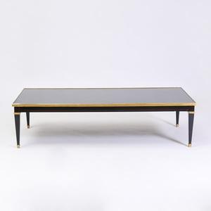 Louis XVI Style Gilt-Metal-Mounted Ebonized Low Table, Modern