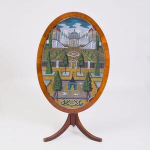 Fine German Rococo Glass Beadwork Tilt-Top Table, Johann Michael van Selow, Braunschweig